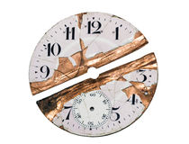 Damaged watch face. With clipping path Royalty Free Stock Photos