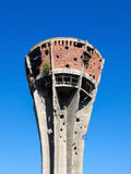 Damaged water tower in Vukovar, Croatia Stock Photo