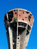 Damaged water tower in Vukovar, Croatia Stock Images