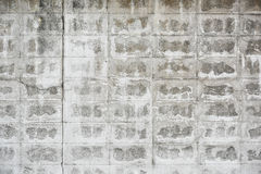 Damaged white brick wall Stock Image