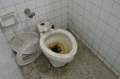 Damaged White toilet  Stock Image