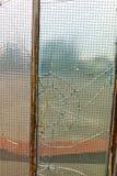 Damaged window glass Royalty Free Stock Image