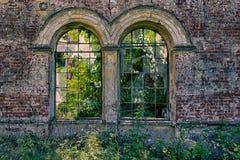 Damaged windows Stock Photography