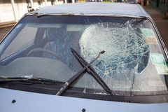 Damaged windscreen Royalty Free Stock Images