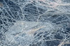 Damaged windshield after accident Stock Photos