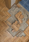 Damaged wooden floor Royalty Free Stock Photography
