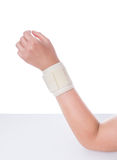 Damaged wrist. Orthopedic bandage is imposed. Stock Photography