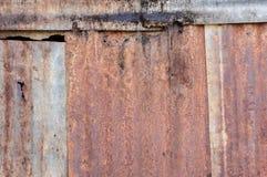 Damaged zinc Stock Image