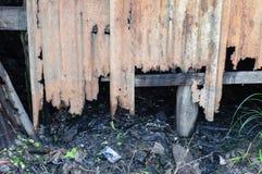 Damaged zinc. Background and texture of damaged zinc Stock Images
