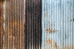 Damaged zinc surface Stock Photos