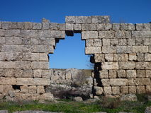 Damager arch in perge ruins Stock Images
