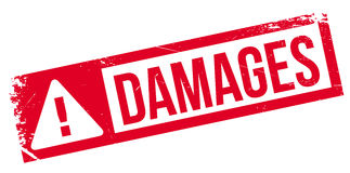 Damages rubber stamp Stock Photos