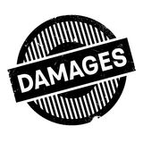 Damages rubber stamp Royalty Free Stock Images