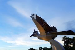 Damai Beach hornbill statue landmark Royalty Free Stock Image