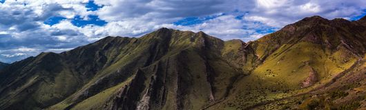 Damala Mountain. Beautiful scenery of Damala Mountain,Qamdo,Tibet,CHINA.And the G317 is one of the most dangerous national highway in China Royalty Free Stock Photo
