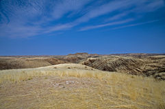Damaraland landscape. A truly African vista with the majestic rocks and plains and an overwhelming sky Royalty Free Stock Images