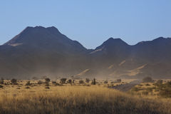 Damaraland in Namibia. Dramatic scenery in Damaraland in Namibia Stock Images
