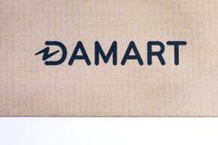 Damart-Logo auf einer Broschüre Stockfotos