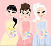 Damas de honra Foto de Stock