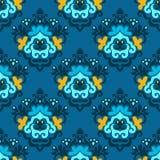 Damas-Designzusammenfassung nahtlos   Hintergrund Stockbilder