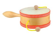 Damasa drum. Isolated on pure white stock photos