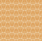 Damasc Seamless Background. Gold and Beige Royalty Free Stock Image