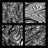 Damasceneståldelar Randig krabb form för abstrakt begrepp optisk konst Royaltyfria Foton