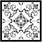 Damasco branco preto cerâmico Fotografia de Stock Royalty Free