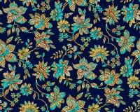 Damasco colorido incons?til de Paisley con fondo azul marino libre illustration