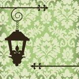 Damasco com lâmpada do vintage ilustração royalty free
