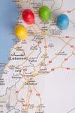 Damasco contro Homs Immagini Stock Libere da Diritti
