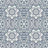 Damasco inconsútil del modelo Lacy Ornament con las mandalas del esquema ilustración del vector