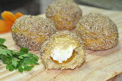 Damascus and Cream Cheese Chicken Balls Royalty Free Stock Photos