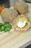 Damascus and cream cheese chicken balls Stock Photos
