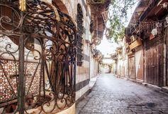 Damascus forntida stad Royaltyfria Bilder