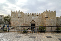 Damascus Gate entry to Old City Jerusalem Stock Photos