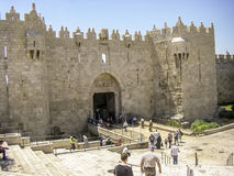 Damascus Gate in Jerusalem, Israel Stock Images