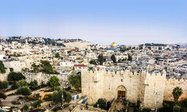 Damascus Gate and Jerusalem, Israel Stock Photography