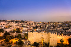 Damascus Gate and Jerusalem, Israel Royalty Free Stock Photography