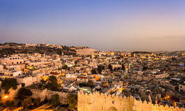 Damascus Gate and Jerusalem, Israel Royalty Free Stock Images