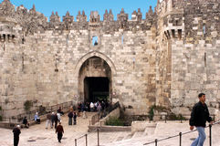 Damascus Gate in Jerusalem Old City, Israel Stock Image