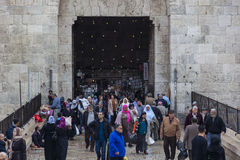 Damascus gate. Jerusalem old town, Israel Royalty Free Stock Image