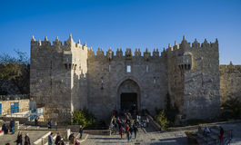 Damascus gate of old city Jerusalem Stock Image