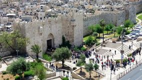 Damascus gate with stairs Stock Image