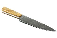 Damascus kitchen knife Royalty Free Stock Photo