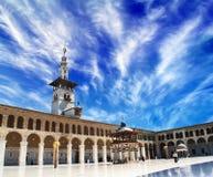 damascus moskéomayyad syria Royaltyfri Fotografi