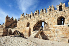 Damascus Nablus Gate in Jerusalem Stock Image