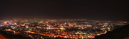Damascus by night Stock Photo