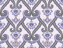 Damascus pattern in gray purple tones Stock Photos