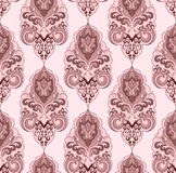Damascus pattern in pink tones on a light backgrou Stock Photography